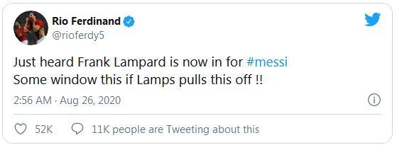 里奥:听说兰帕德想要梅西 切尔西阿布要出手了
