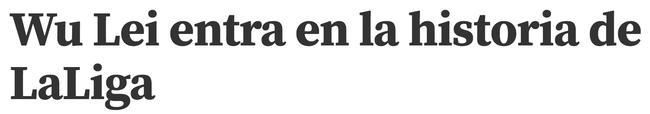 《世界体育报》称武磊进入西甲历史