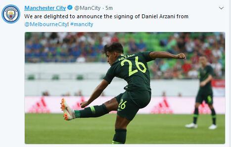 曼城签下阿尔扎尼
