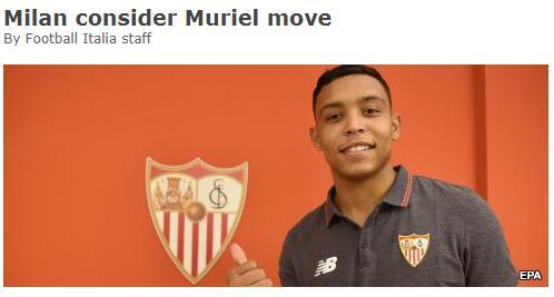 米兰或有意买穆里尔