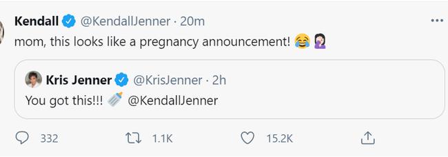 怀孕了?詹娜妈妈发奶嘴表情 粉丝已经炸锅了