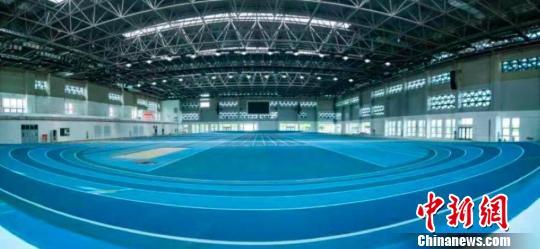 南京为此赛事新建的专业田径馆。(内景)组委会供图