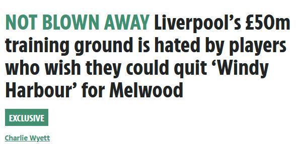 利物浦5千万镑新基地有一缺陷 球员最讨厌这一点