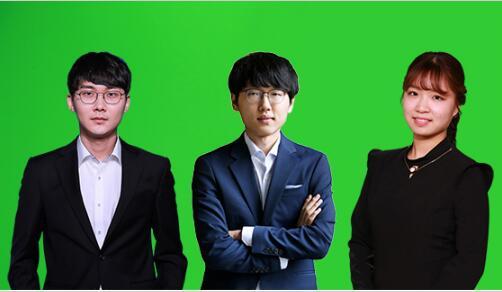 ▲2019年上半年牵引韩国围棋的主人公,左起 朴廷桓、申真谞、崔精九段