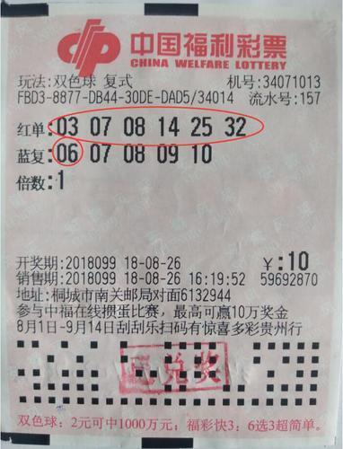 铁杆彩民现身兑走双色球685万 每期投注100元