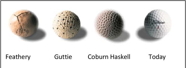 高尔夫收藏与历史之50 现代高球先驱-橡胶内核球