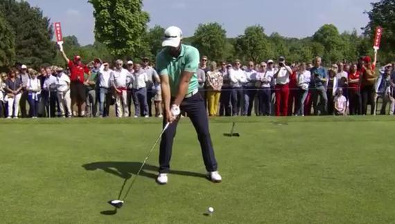 视频-高尔夫教学 比利时赛冠军奥代吉一号木慢放