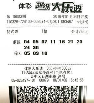男子754元揽大乐透905万:一张票包揽全部奖级