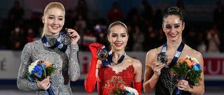 花滑大奖赛总决赛女单颁奖仪式