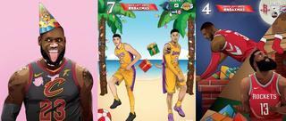 2018来了!NBA球星新年快乐插画