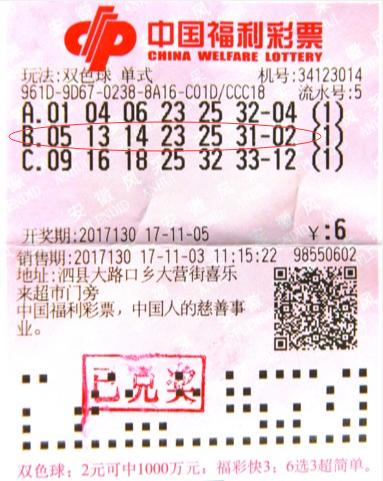 老司机追号十余年不中 6元机选却中双色球千万_彩票