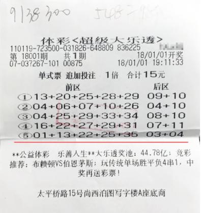 80后商人15元机选擒体彩1462万:这钱太救急了!