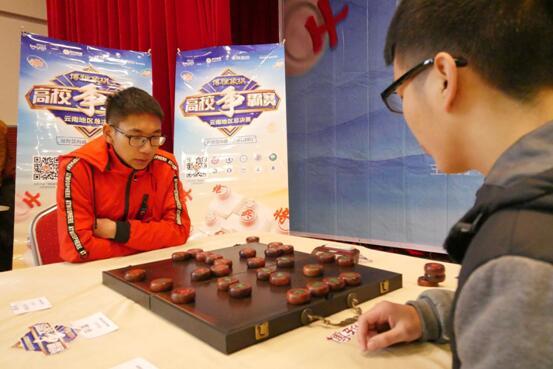 第二日决赛场选手对局中