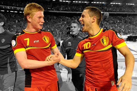 阿扎尔和德布劳内都在英超球队效力