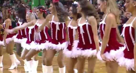 圣诞精灵绿军拉拉队性感热舞