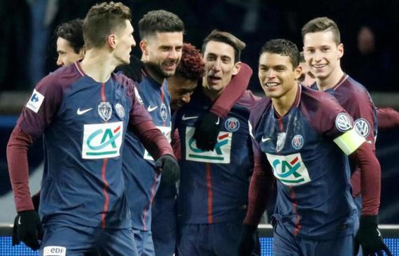 视频集锦-天使2球卡神破门 巴黎3-0进法国杯四强