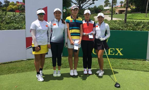 亚太女子业余锦标赛开杆 中国五朵金花出战
