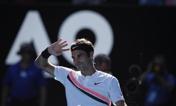 高清-新浪直击澳网费德勒完胜晋级8强