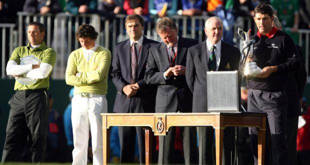 2007年,哈灵顿加冕英国公开赛,麦克罗伊(左二)赢得最佳业余球员奖