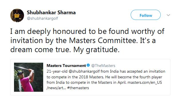 沙玛通过推特表达感谢