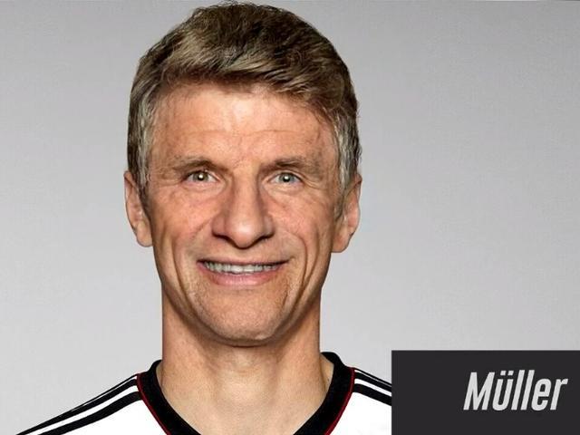 视频-拜仁球员50年后样貌大猜想 比达尔的表情亮了