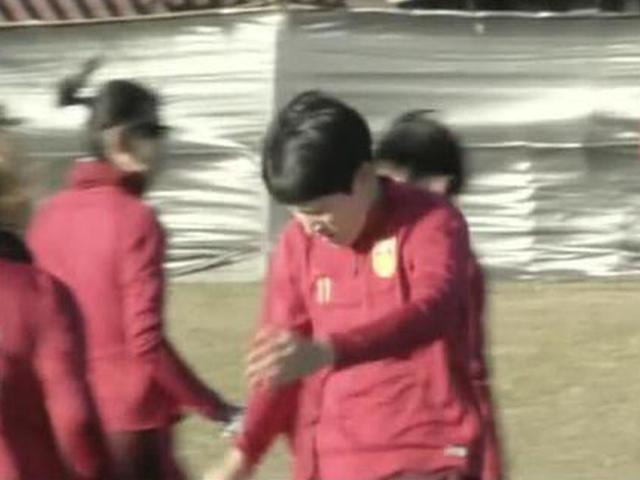 东亚杯女足积极备战日本