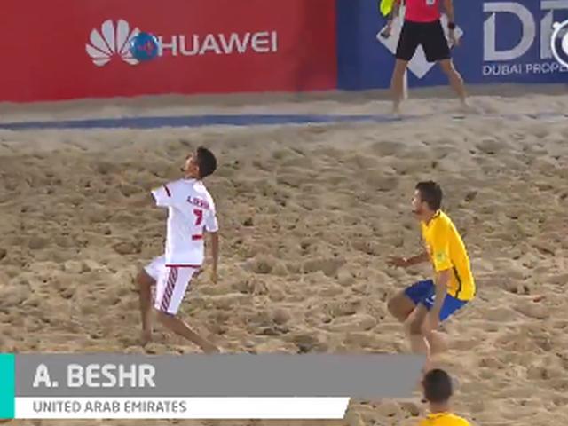 视频-沙滩足球场上各种神仙球 死角任意球+完美倒钩
