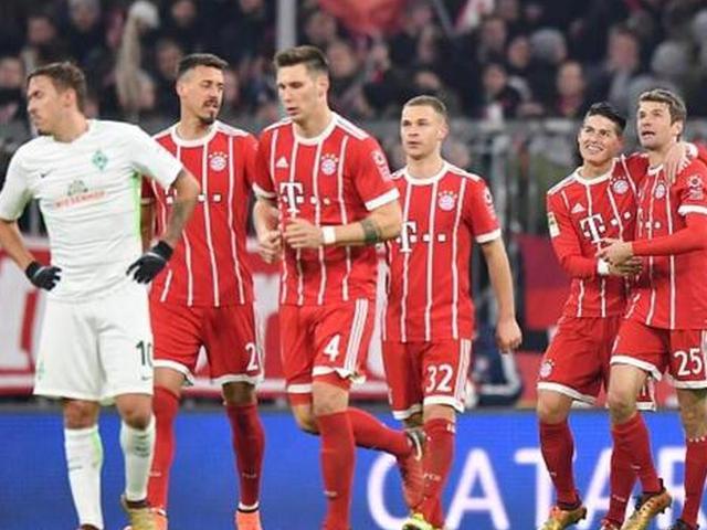 德甲-拜仁4-2逆转不莱梅