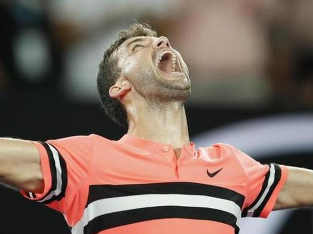 澳网-迪米特洛夫淘汰澳洲新星
