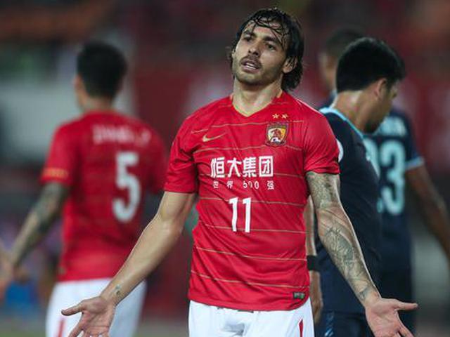 恒大亚冠1-1战平武里南联