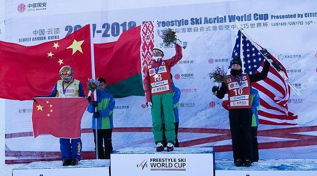 三个月前,胡斯科娃在中国首次问鼎世界杯冠军