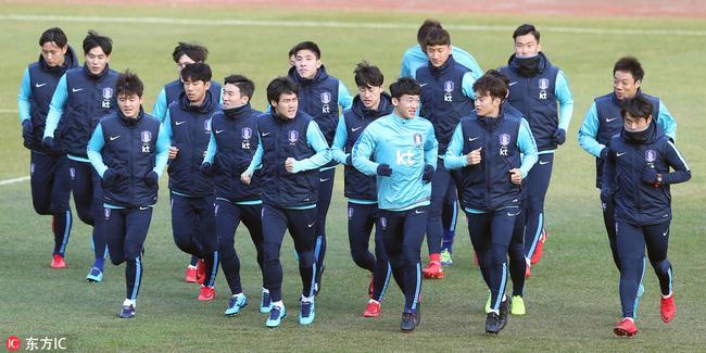 韩国队秘练战术对付国足 前富力外援:不丢球夺冠