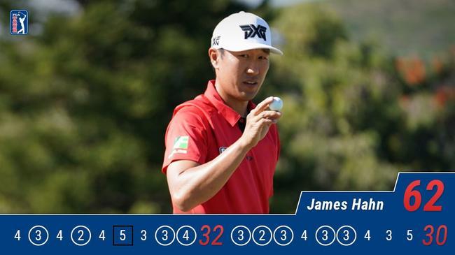 詹姆士-韩决赛轮打出62杆