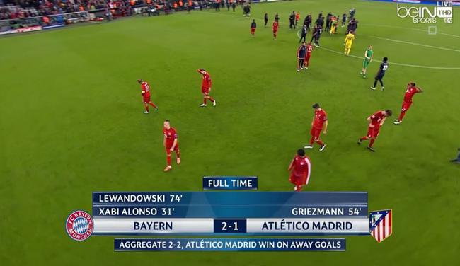 在拜仁没能冲过欧冠半决赛这一关
