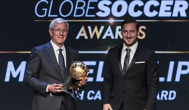 里皮获教练职业生涯奖 世界杯+欧冠+亚冠无人