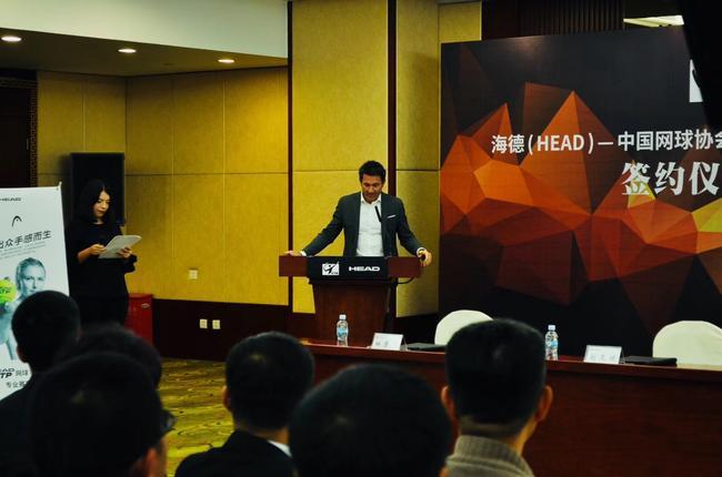 海德(HEAD)国际贸易总经理Peter Schott先生致辞