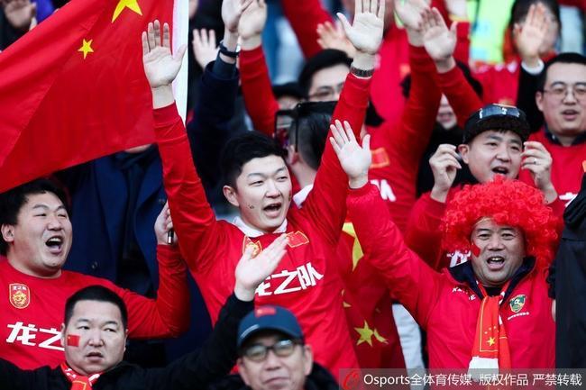 现场的中国球迷