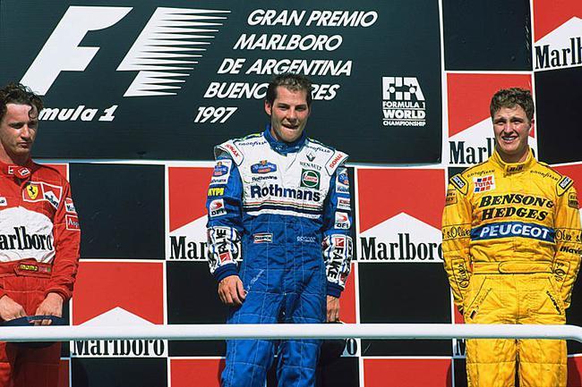 1997年维伦纽夫在阿根廷站夺冠