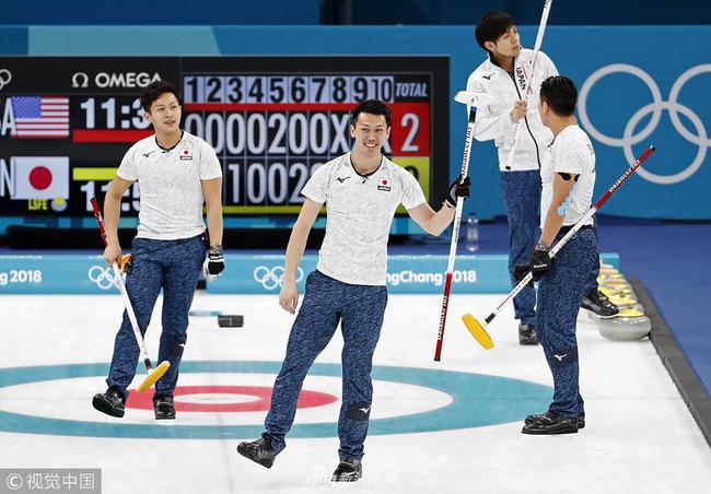 冬奥会男子冰壶加拿大遭遇两连败 日本8-2胜美国