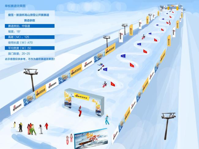 单板滑雪赛道效果图