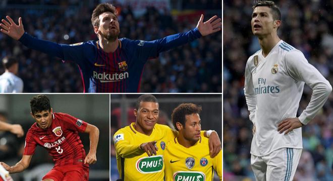 足坛年薪top10:C罗仅排第6 中超5人上榜