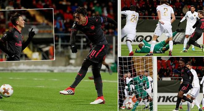 欧联杯-姆希塔良助攻厄齐尔进球 阿森纳3-0客胜