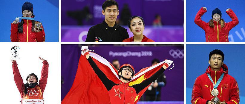 中国代表团平昌冬奥会奖牌回顾