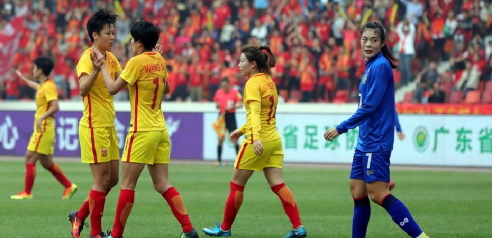 佛山四国赛-任桂辛王珊珊破门 中国女足2-1泰国