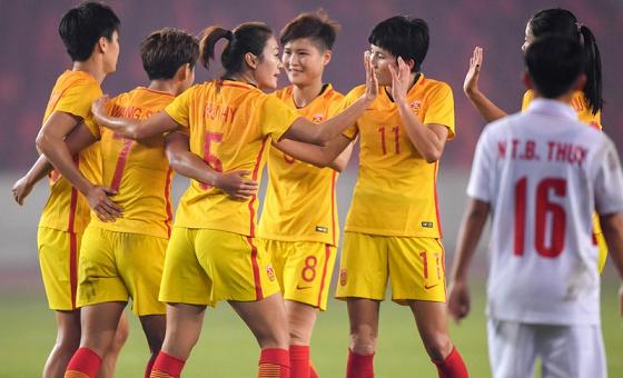 佛山四国赛 中国女足4-0越南