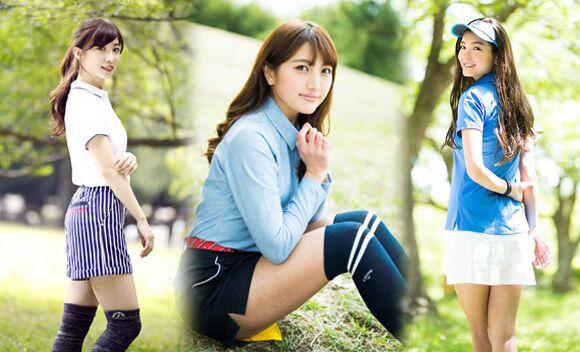 东瀛美少女群像!日本高尔夫杂志美女写真