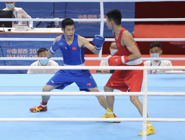 十四运会拳击项目陕西老将常勇获得银牌