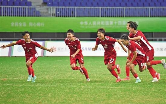 祝贺!陕西队夺得全运会男足U18组冠军