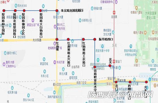 138路公交运行图。