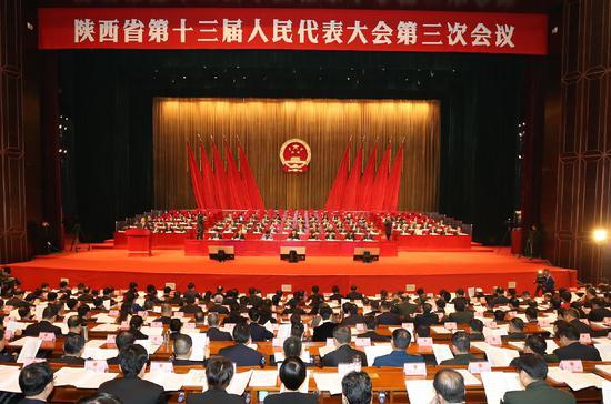 1月15日,陕西省第十三届人民代表大会第三次会议在西安隆重开幕。陕西日报记者母家亮摄